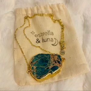 🌟HP🌟 Raw Jasper Sea Sediment 18K Gold Necklace